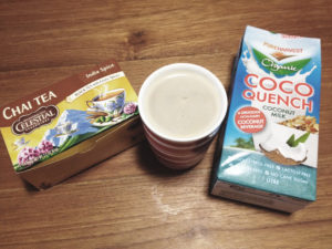 Coconut milk and tea