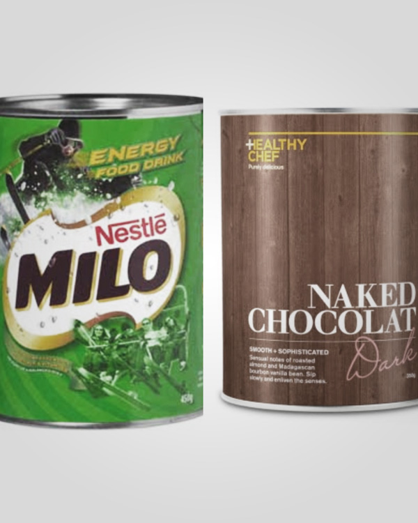 Product Comparison Series Part 3: Milo Vs The Healthy Chef Naked Chocolat